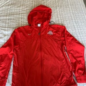 Nike Ohio State Full Zip Wind/Rain Breaker